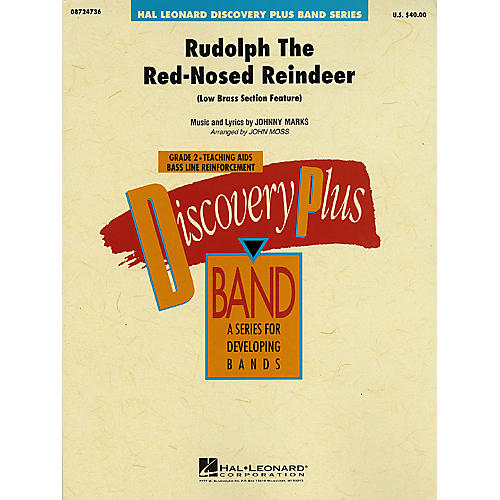 Hal Leonard Rudolph The Red-Nosed Reindeer - Discovery Plus Concert Band Series Level 2 arranged by John Moss