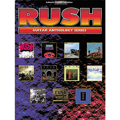 Alfred Rush Anthology Series Guitar Tab Book