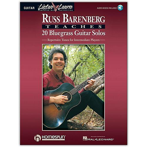 Homespun Russ Barenberg Teaches 20 Bluegrass Guitar Solos (Book/Online Audio)
