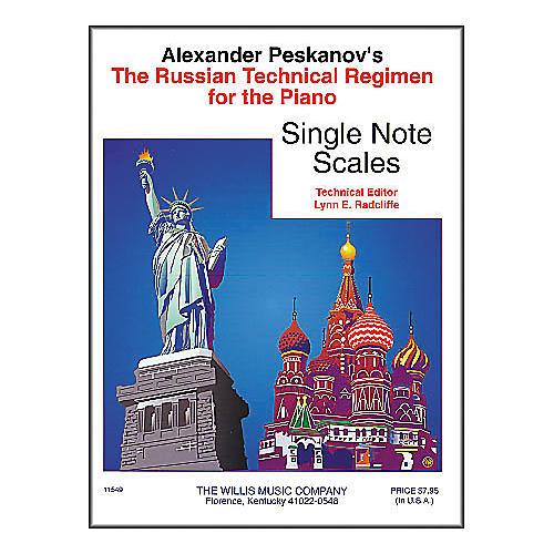 Willis Music Russian Technical Regimen Volume 1 by Alexander Peskanov-thumbnail