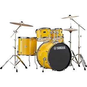 Yamaha rydeen 5 piece shell pack with 22 in bass drum hot for Yamaha bass drum decal
