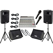 Alesis S-16 / Harbinger APS15 Mains and Monitors Package