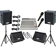 Alesis S-16 / Kustom KPC15P Mains and Monitors Live Sound Package