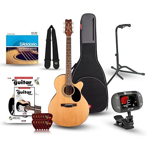 Jasmine S-34C Cutaway Acoustic Guitar Bundle-thumbnail
