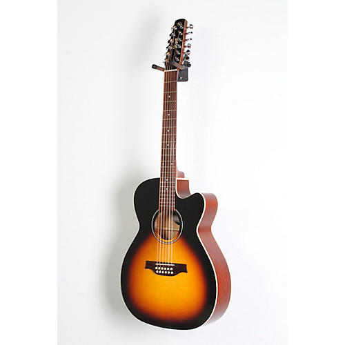 Seagull S12 Spruce Sunburst Cutaway Concert Hall QIT Acoustic-Electric Guitar-thumbnail