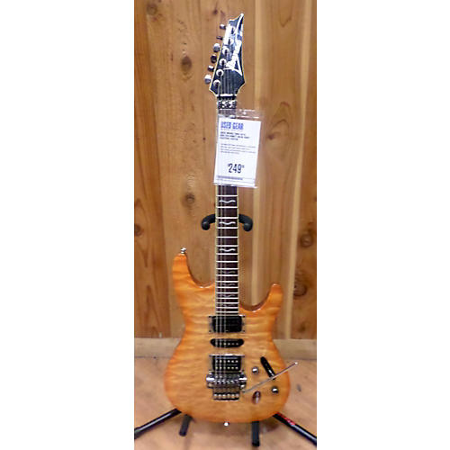 Ibanez S470 Quilted Honey Solid Body Electric Guitar