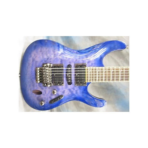 Ibanez S570DXQM S Series Trans Purple Solid Body Electric Guitar