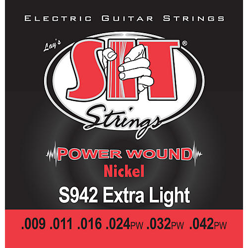 SIT Strings S942 Extra Light Power Wound Nickel Electric Guitar Strings-thumbnail