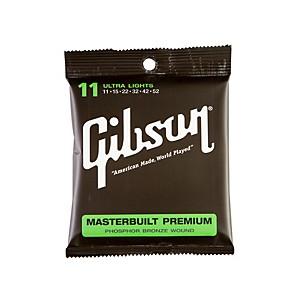 Gibson SAG-MB11 Masterbuilt Premium Phosphor Bronze Acoustic Guitar Strings by Gibson