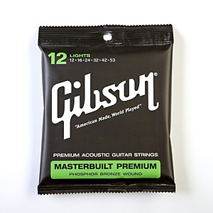 Gibson SAG-MB12 Masterbuilt Premium Phosphor Bronze Acoustic Guitar Strings by Gibson