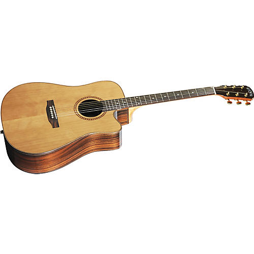 Great Divide SBDC-24CE-G Dreadnought Solid Cedar Top Acoustic - Electric Cutaway Guitar-thumbnail