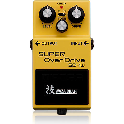 Boss SD-1W Super Overdrive Waza Craft Guitar Effects Pedal-thumbnail