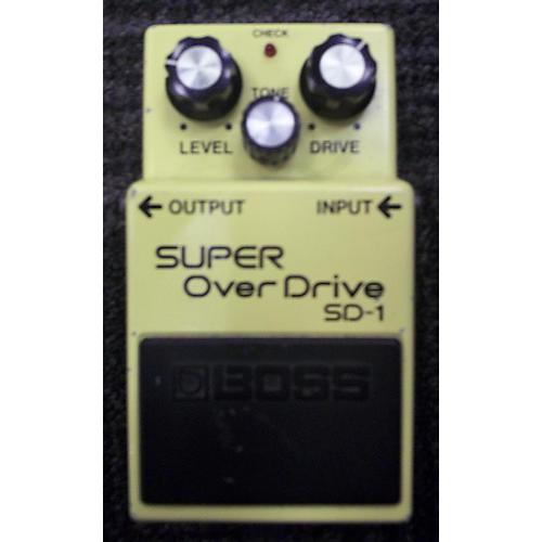 Boss SD1 Super Overdrive MIJ Yellow Effect Pedal