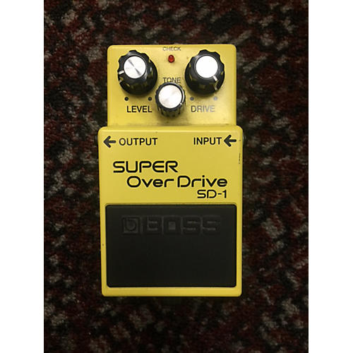 Boss SD1 Super Overdrive Yellow Effect Pedal