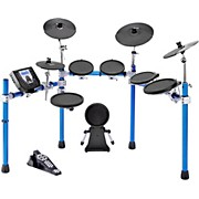 SD1500 Electronic Drum Set with Blue Metallic Rack