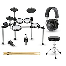 Simmons SD550 Electronic Drum Set with Mesh Pads Complete Bundle