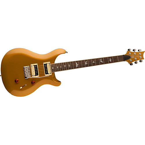 PRS SE Custom 24 Creme Binding Electric Guitar Gold Metallic Rosewood Fretboard-thumbnail