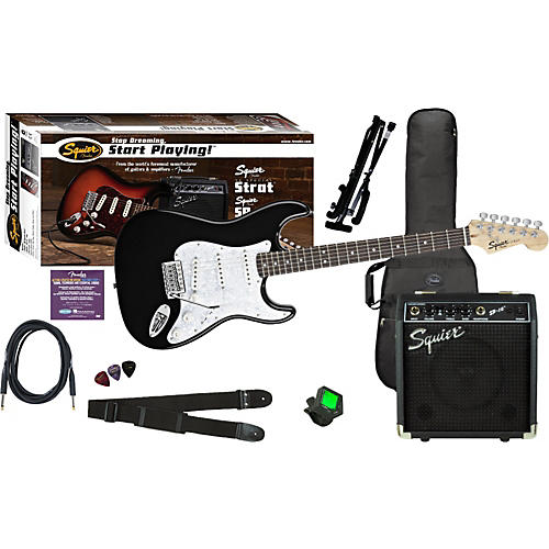 Squier SE Special Strat with Squier SP-10 Amp Value Pack Black