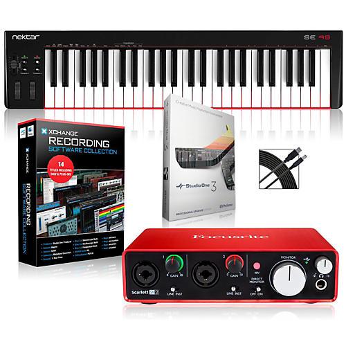 Nektar SE49 49-Key USB MIDI Keyboard Controller Packages  Intermediate Recording Package