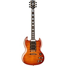 SG Custom Figured Top 3-Pickup Electric Guitar Orange Tiger