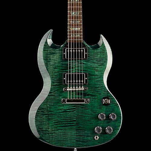 gibson custom sg elegant figured solid body electric guitar green guitar center. Black Bedroom Furniture Sets. Home Design Ideas