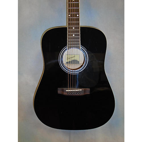 Savannah SGD12 Black Acoustic Guitar-thumbnail