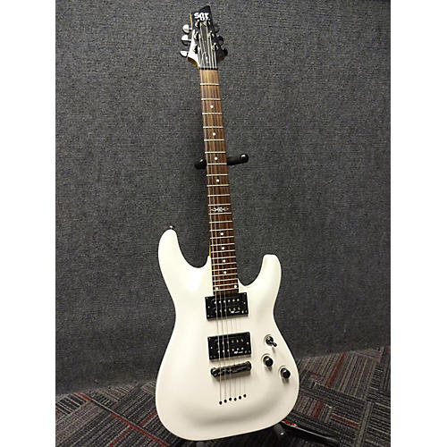 Schecter Guitar Research SGR C01 Solid Body Electric Guitar White-thumbnail