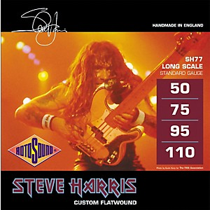 Rotosound SH77 Steve Harris Signature Flat Wound Bass Strings by Rotosound