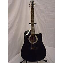 Esteban SILVER AND BLACK Acoustic Electric Guitar
