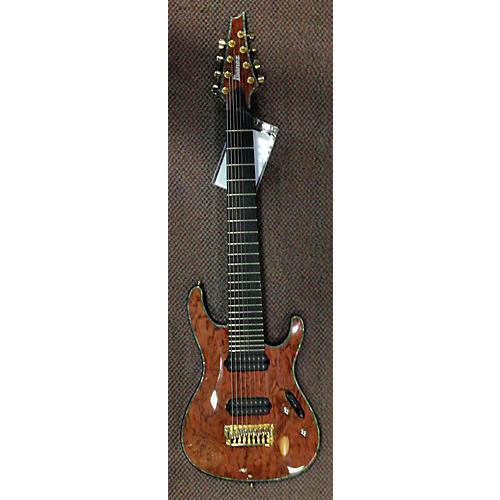 Ibanez SIX28FDBG Iron Label 8 String Natural Solid Body Electric Guitar-thumbnail