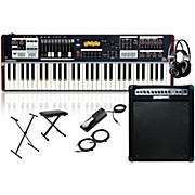 Hammond SK1 61-Key Digital Stage Keyboard and Organ with Keyboard Amplifier, Stand, Headphones, Bench, and Sustain Pedal