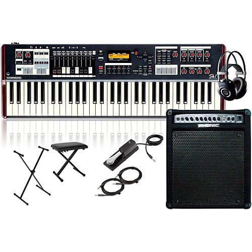 Hammond SK1 61-Key Digital Stage Keyboard and Organ with Keyboard Amplifier, Stand, Headphones, Bench, and Sustain Pedal-thumbnail