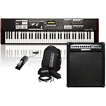 Hammond SK1-73 73 Key Digital Stage Keyboard and Organ with Keyboard Accessory Pack, MK50 Keyboard Amplifier, and Sustain Pedal