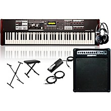 Hammond SK1-73 73-Key Digital Stage Keyboard and Organ with Keyboard Amplifier, Stand, Headphones, Bench, and Sustain Pedal