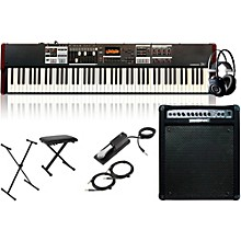 Hammond SK1-88 88-Key Digital Stage Keyboard and Organ with Keyboard Amplifier, Stand, Headphones, Bench, and Sustain Pedal
