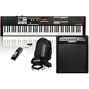 Hammond SK1-88 Stage Keyboard with Accessory Pack, Keyboard Amplifier, and Sustain Pedal