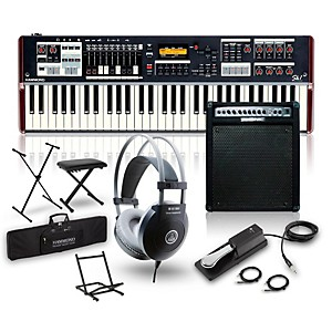 Hammond SK1 Organ with Keyboard Amplifier, Stand, Headphones, Bench, and Su... by Hammond