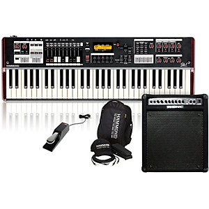 Hammond SK1 Stage Keyboard with Accessory Pack, Keyboard Amplifier, and Sus... by Hammond
