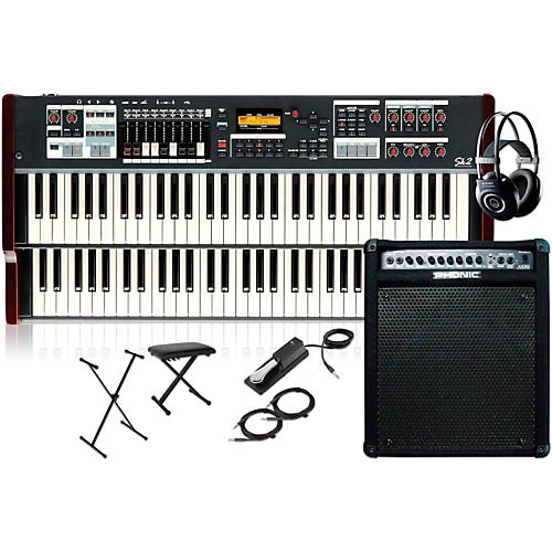Hammond SK2 Organ with Keyboard Amplifier, Stand, Headphones, Bench, and Sustain Pedal-thumbnail