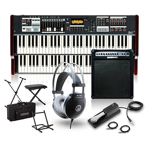 Hammond SK2 Organ with Keyboard Amplifier, Stand, Headphones, Bench and Sustain Pedal-thumbnail