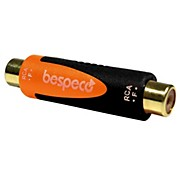 Bespeco SLAD310  RCA Female to RCA Female 24K Gold-Plated Adapter<br>