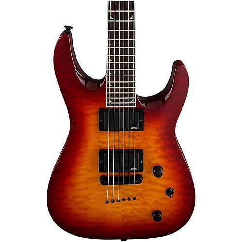 Jackson SLATTXMG 3-6 Quilted Maple Top Electric Guitar Black Cherry Burst