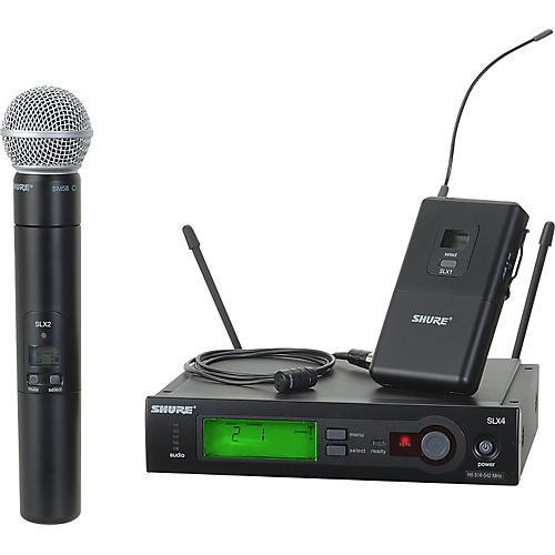 Shure SLX124/85/SM58 Dual System Band G5