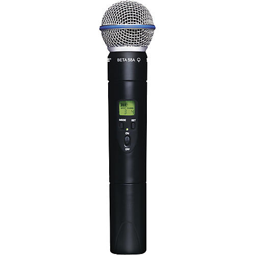 Shure SLX2/Beta58 Wireless Handheld Transmitter Microphone-thumbnail