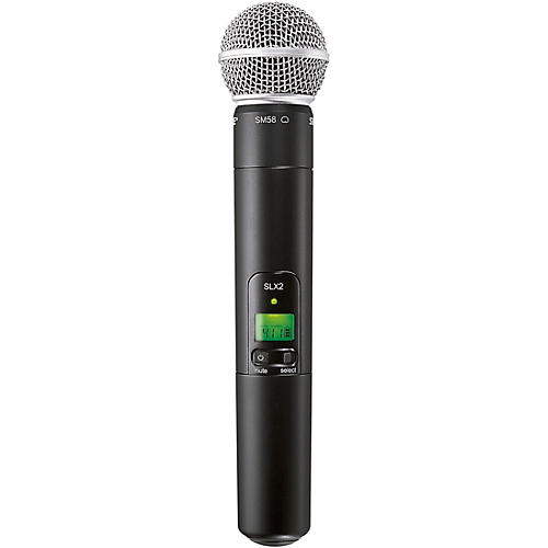 Shure SLX2/SM58 Wireless Handheld Microphone-thumbnail