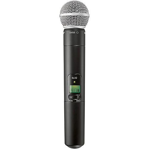 Shure SLX2/SM58 Wireless Handheld Microphone-thumbnail