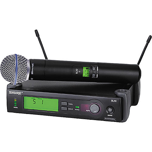 Shure SLX24/BETA58 Wireless Handheld Microphone System-thumbnail