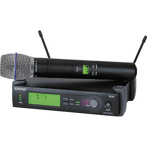 Shure SLX24/BETA87A Handheld Wireless Condenser Microphone System-thumbnail