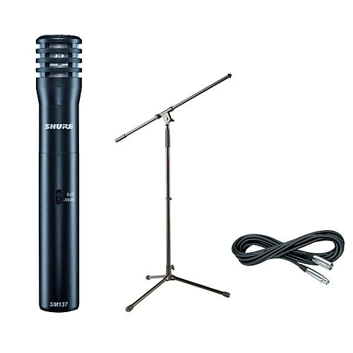 Shure SM137 Condenser Mic with Cable and Stand-thumbnail
