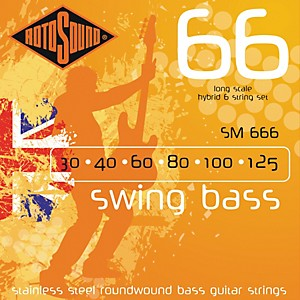 Rotosound SM66 Trubass 4 String Roundwound Bass Strings by Rotosound